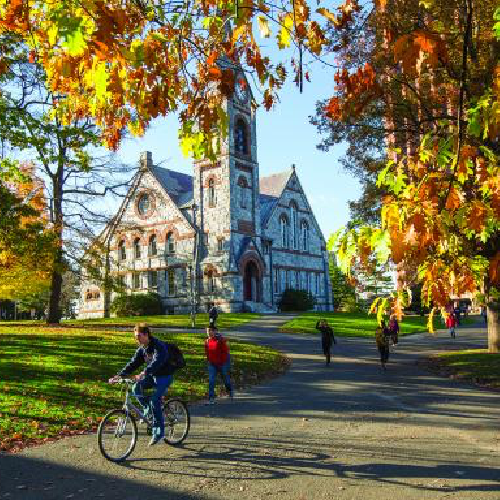 UMass Old Chapel in the Fall